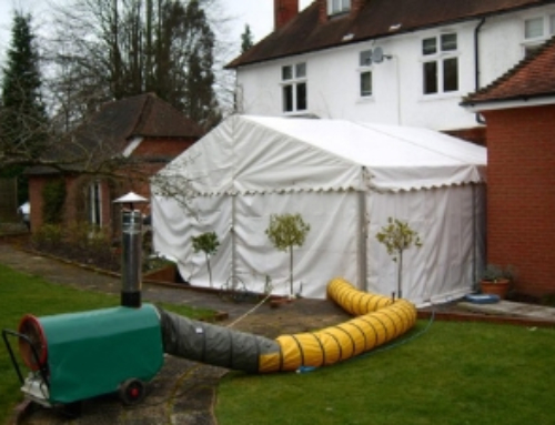 Heating your party or wedding reception marquee